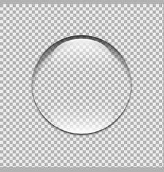 Water drop glass sphere bubble vector