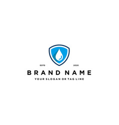 Water droplets shield logo design vector