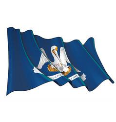 waving flag state louisiana vector image
