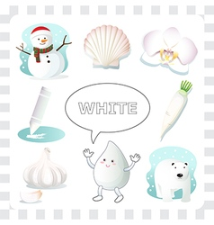 White color vector image