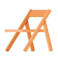 Wooden folding chair modern garden furniture vector