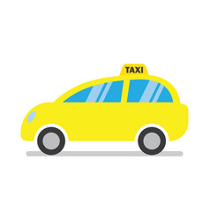 yellow taxi cab icon vector image