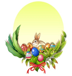 A colorful easter-designed border vector image vector image