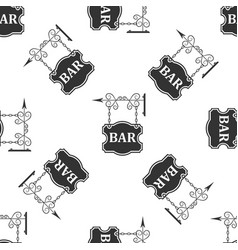 bar signboard seamless pattern on white background vector image