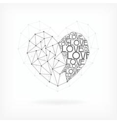 Geometric Card - Heart Shape vector image vector image