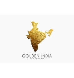 India map Golden India logo Creative India logo vector image