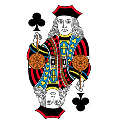 Jack of clubs isolated french version vector