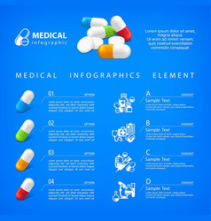 medical pill infographic vector image