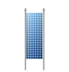 Photovoltaic solar panel renewable energy source vector