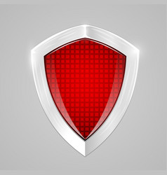 red metal shield protection concept vector image vector image