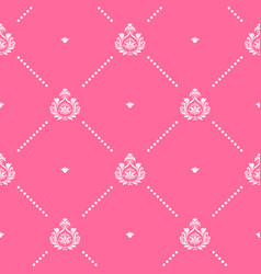 seamless pink pattern decor vector image vector image