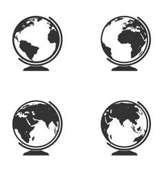 set of globe icon vector image vector image