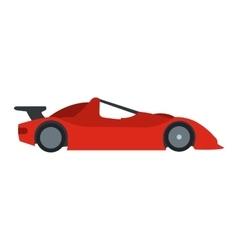 Speeding race car flat icon vector image