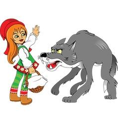 Cartoon wolf vector image