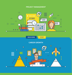 Concepts for project management and career growth vector
