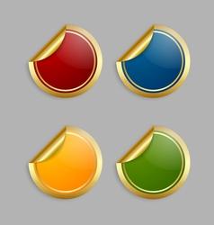 Golden stickers vector image