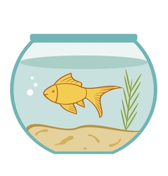 goldfish in a bowl vector image vector image