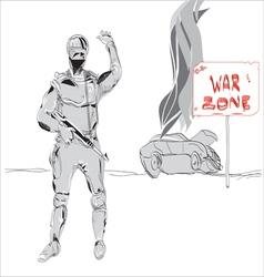 war zone vector image vector image