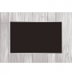 wood frame vector image vector image