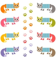 background with cute sailor cats in frock vector image vector image
