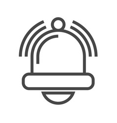 Bell thin line icon vector