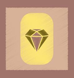 Flat shading style icon diamond symbol vector