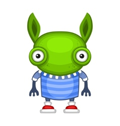 Funny Cartoon Green Alien vector image