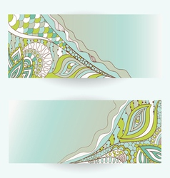 hand drawn floral banners vector image