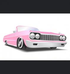 American convertible car vector image