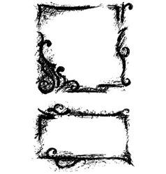 Black grunge ornate vector image vector image