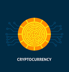 cryptocurrency technology concept vector image