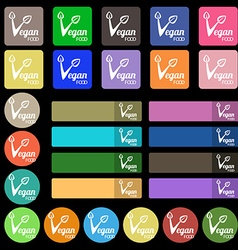Vegan food graphic design icon sign Set from vector image vector image