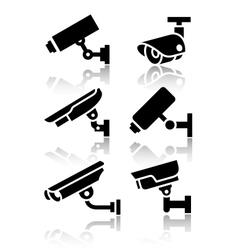 Video surveillance new big set stickers vector image vector image