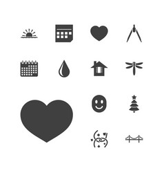 13 abstract icons vector
