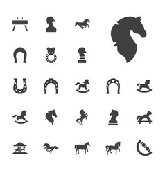 22 horse icons vector
