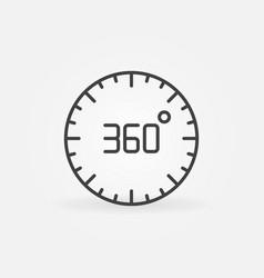360 degree circle linear concept icon vector