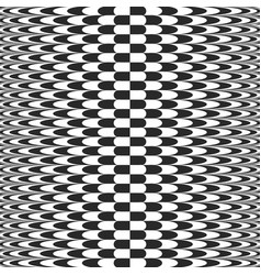 Abstract checkered background op art style vector