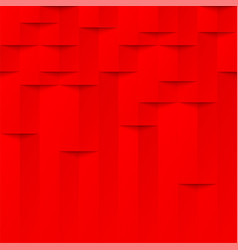 Abstract red 3d geometric pattern brick wall vector