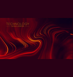 Abstract red geometrical background connection vector