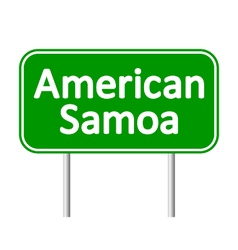 American Samoa road sign vector