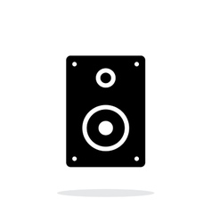 Audio speakers icon on white background vector image