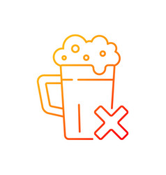 Avoid alcohol gradient linear icon vector
