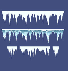 bars icicles elements for endless borders vector image
