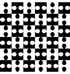Black and white puzzle seamless pattern vector