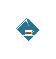 blue book and coffee vector image