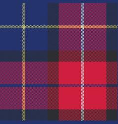 Blue tartan pixel fabric texture seamless pattern vector