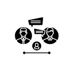 business consultation black icon sign on vector image