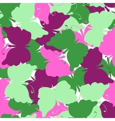 Butterfly colored seamless pattern vector