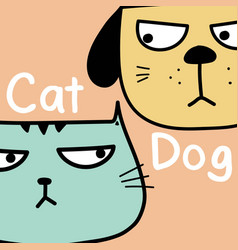 cat vs dog background vector image