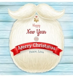 Christmas card with a beard Santa Claus EPS 10 vector